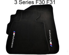 Floor Mats For BMW 3 Series F30 F30LCI F31 With M Performance Emblem LHD Clips