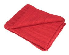 Red Cable Knit Chunky Throw 150cm x 125cm