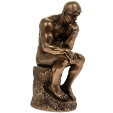 The Thinking Man Bronzed Sculpture Inspired by Auguste Rodin Thinker LE PENSEUR