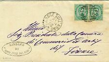 366-TOSCANA, SANTA CROCE SULL' ARNO, NUMERALE A SBARRE PER FIRENZE, 1882