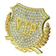 1pcs Luxury Crystal VIP Gold Metal Side Trunk Badge Emblem Sticker For Fit Honda