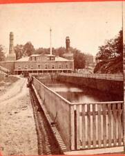 J.W.& J.S.Moulton stereoview Fairmount Water Works,Philadelphia,PA