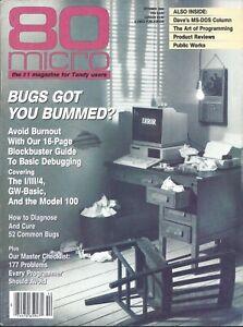 Radio Shack Tandy TRS-80, 80 Micro Magazine, October 1986