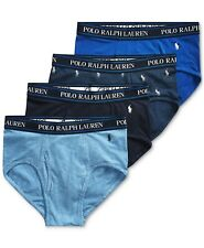 NWT MENS polo RALPH LAUREN CLASSIC STRETCH low rise BRIEFS UNDERWEAR 4 pack L