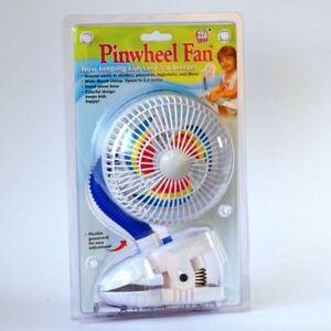 Baby Clip On Fan Kel Gar Pinwheel Pushchair Buggy Stroller Pram Summer Holiday