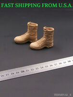 """1/6 Military Soldier Combat Boots SAND For 12"""" Hot Toys Phicen Male Figure ❶USA❶"""
