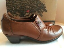 Cobb Hill By New Balance Brown Leather ADELE-CH Sz Womens 10 M Shorties Shoes