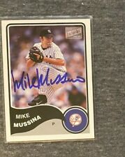 Mike Mussina Signed Auto 2003 Topps Bazooka #265 Yankees OriolesSigned