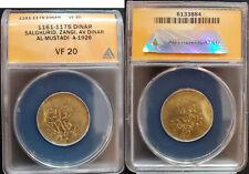 1161-1175 Salghurid Zangi Gold Dinar ANACS VF20