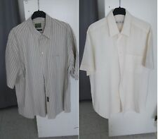 OMAGGIO 3x2: Coppia camicie uomo lino e cotone, maniche corte +1 OMAGGIO XXL XL
