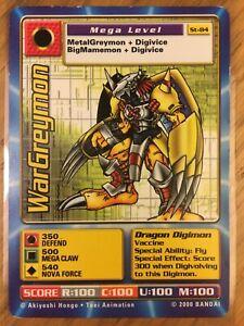 DIGIMON ST-84 WarGreymon Swedish Promo Card TCG Rare Played