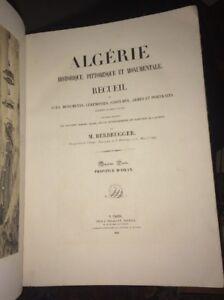 ALGÉRIE. BERBRUGGER. DEUXIÈME ET TROISIÈME PARTIE. ORAN ET BÔNE.1843.