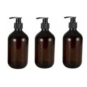 3PCS 500ml Shampoo Soap Dispenser Bottle Pump Empty Bottle Bathroom UK