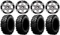 "ITP SS212 14"" Wheels Machined 30"" Carnivore Tires Can-Am Commander Maverick"