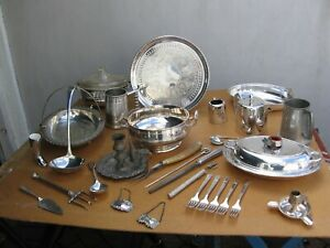 JOB LOT Antique & Vintage Silver Plated Tableware & Cutlery Extensive Lot