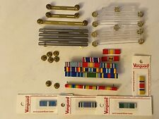 Usaf / Us Army Military Ribbon Rack, Ribbon Racks, and New Vanguard Ribbon Lot