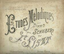 La Serenade Melodie pour Piano d'apres Shubert par Franz Liszt Spartito 1882