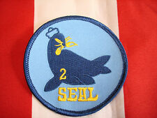 Navy Seal Team Two Patch New Full Color Embroidered Hat Jacket Bag Coat