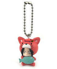 One Piece Cat Suit Nyan Mascot PVC SD Figure ~ Portgas D. Ace Keychain @10998