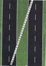 - 9 SHEETS A4 21x29cm ROADS EMBOSSED 9 SHEETS HO 1/87 scale BLACK ASPHALT+ grass