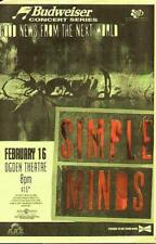 SIMPLE MINDS DENVER ORIGINAL CONCERT POSTER 1995