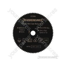 HSS Mini Saw Blade - 85mm Dia - 10mm Bore - 80T