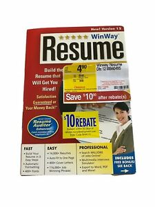 Winway Resume Deluxe PC - CD Rom + Manual + Jewel Case - Version 12