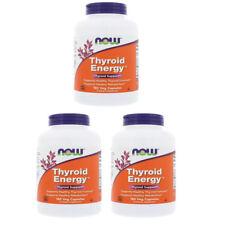 3X NOW FOODS THYROID ENERGY IODINE FORMULAS HEALTHY METABOLISM DIETARY CAPSULES