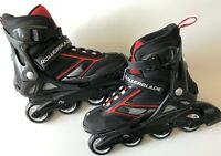 Rollerblade Spitfire XT Black/Red Max Wheel 76 MM Adjustable Youth Size 5-8