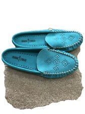 Minnetonka Suede Slip-On Slides Mules Shoes Women's Size 9.5 New