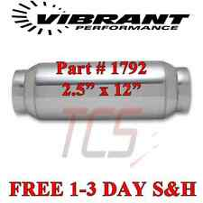 "2.5"" x 12"" OAL Vibrant Performance Exhaust Resonator, Stainless Steel #1792"