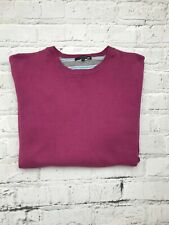 DUNNES Deep Pink Long Sleeve Crew Neck Casual Jumper Size L