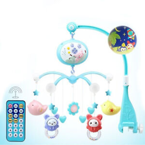Baby Musical Crib Bed Cot Mobile Stars Dreams Light Flash Nusery Lullaby Toy RC