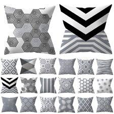 "18"" Silver Gray Cushion Cover Geometric Pillow Case Pillowcase Sofa Home Decor"