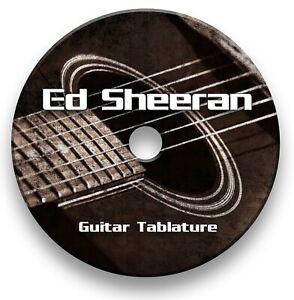 Ed Sheeran Pop Rock Guitar Tab Tablature Lesson Software CD - Guitar Pro