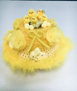 Girls Easter Bonnet Ready Handmade Decorated Hat School Parades Egg Hunt Party