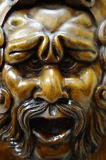19C Italian Frullini Fantasy Carved Walnut Cabinet Devil/Satyr/Gargoyle/Griffin