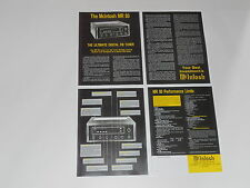 McIntosh MR-80 Tuner Brochure 4 pages, Specs, Info, Articles, MR80