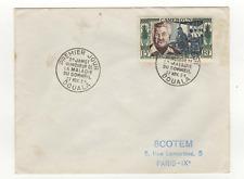 Cameroun 1 timbre sur lettre FDC 1954 tampon Douala /L520