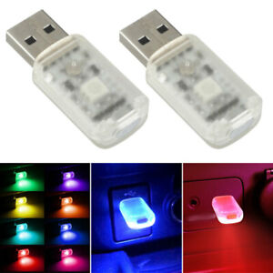 Mini USB LED Car Interior Light Touch Key Atmosphere Ambient Lamp Accessories