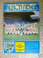 1985/86 WEST BROMWICH ALBION v MANCHESTER CITY,  (League Division One)