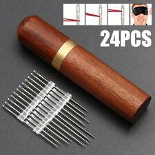 Stainless Steel Self-threading 24Pcs Needles Opening Sewing Darning Needles Set