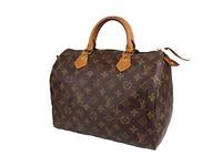 LOUIS VUITTON Speedy 30 Monogram Canvas Leather Hand Bag OLH0033