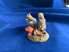 1984 Franklin Mint Figurine Peter Barrett colors of Autumn squirrel chipmunk nut