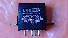 LRE M215-D1N  28 VDC 500R 1 PDT 10 AMP Polarised Non Latch Military Spec Relay