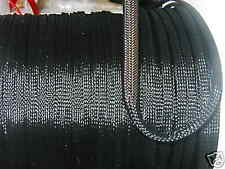 1/4 EXPANDABLE SLEEVING 25ft BLACK standard weave TECHFLEX - MADE IN USA -