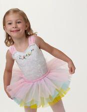 NWT 3 color ballet tutu yellow pink white X Smll girls ballerina dressup rosebud