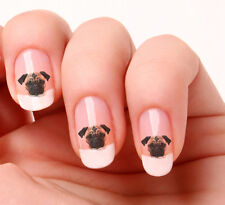 20 Adesivi Unghie Nail Art Decalcomanie #595 - Pug - cane Just peeling & stick