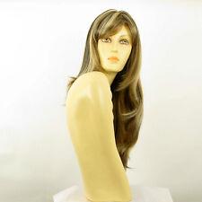Perruque femme longue méchée blond clair méché cuivré chocolat BETTY 15613H4