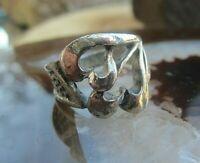 durchbrochener wuchtiger silber ring 17 mm 80er jahre -auch ohne stein klasse